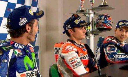 Enfrentamiento entre Jorge Lorenzo y Valentino Rossi en GP San Marino