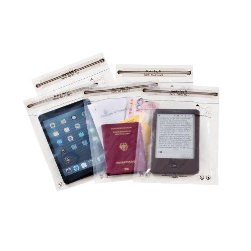 Pack de 5 bolsas secas con cierre zip - 100% impermeables y herméticas