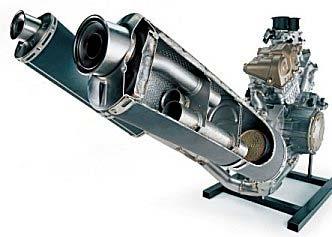 Como funciona el tubo de escape de una moto