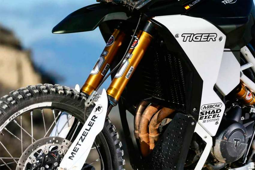 Suspensiones poderosas para La exclusiva Triumph Tiger 800 Tramontana