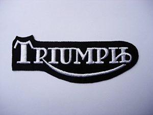 Parche Bordado Termoadhesivo Triumph - black-silver